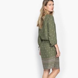 Kleid mit 3/4-Ärmeln, weich fließend, bedruckt ANNE WEYBURN