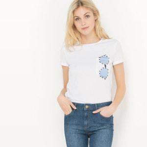 Tee shirt col rond, imprimé R Edition