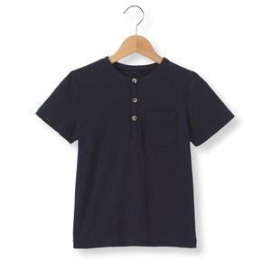 T-shirt com decote tunisino, 3-12 anos R essentiel