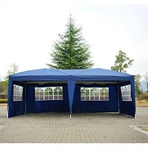Tonnelle 3 x 6 m bleu cotés démontables - HOMCOM HOMCOM