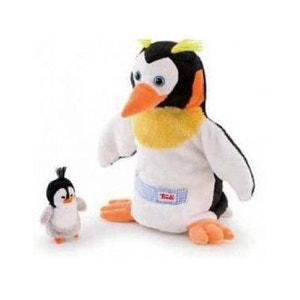 Marionnette Main Maman et Bebe Pingouin TRUDI