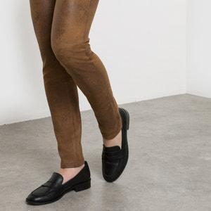 Slim broek, perzikzacht satijnen aspect SEE U SOON