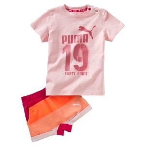 Conjunto camiseta + short 6 meses - 3 años PUMA