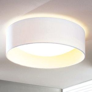 Plafonnier LED en tissu chic Franka en blanc LAMPENWELT