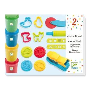 4 Pots + 21 Outils Pâte à Modeler - DJEDJ09755 DJECO