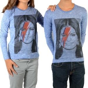 Tee Shirt Selena LS Selena Gomez Mixte (Garçon / Fille) Bleu LITTLE ELEVENPARIS