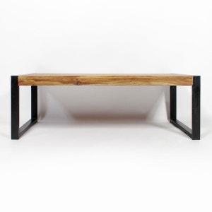 Table basse industrielle en bois d'acacia et métal  |  RA14 MADE IN MEUBLES