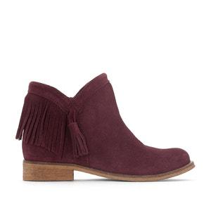 Boots pelle scamosciata, con frange e pompon abcd'R