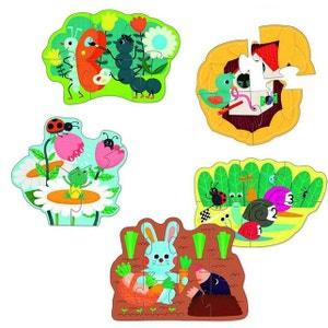 Puzzles de 3 à 9 pièces en bois : 5 puzzles : Dans mon jardin VILAC