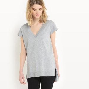 Pull manches courtes, coton/soie La Redoute Collections
