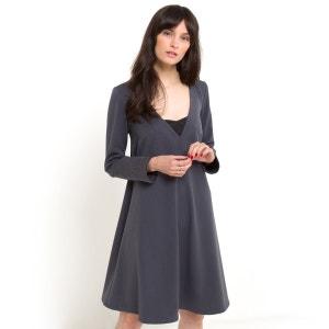 Kleid mit Einsätzen SOFT GREY