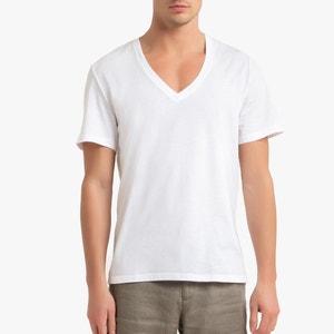 T-shirt met lage V-hals, Théo