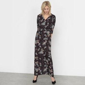 Lange jurk met bloemenprint R studio