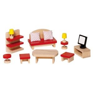Mobilier pour maison de poupées : Salle de séjour GOKI