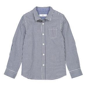 Camisa a cuadros de manga larga, 3-12 años