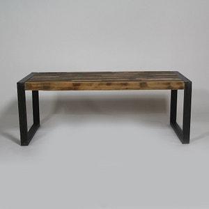 Table basse industrielle en métal et bois coloré grand modèle  |  MOX18 MADE IN MEUBLES