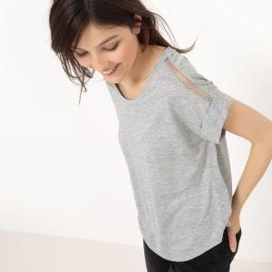 T-shirt ample, ajouré épaules R essentiel