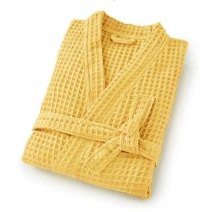 Szlafrok kimono z tkaniny tloczonej w plastry miodu SCÉNARIO SCENARIO