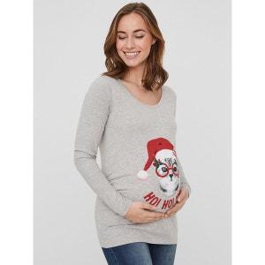 Top de maternité, manches longues Noël MAMA LICIOUS