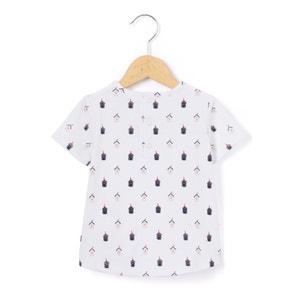 T-shirt met hutprint La Redoute Collections