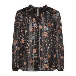Gebloemde blouse met V-hals