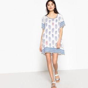 Bedrukte korte rechte jurk met korte mouwen KAPORAL 5