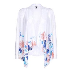 Długi sweter z kwiatowym wzorem YUMI