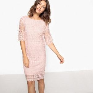 Short Shift Dress with 3/4 Length Sleeves VILA