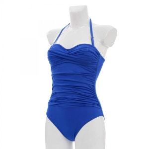 Maillot de bain femme 1 pièce drapée FOLIE - Maillot de bain femme Bluelobster BLUELOBSTER