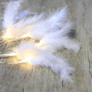 Guirlande led boules lumineuses la redoute - Guirlande plume blanche ...