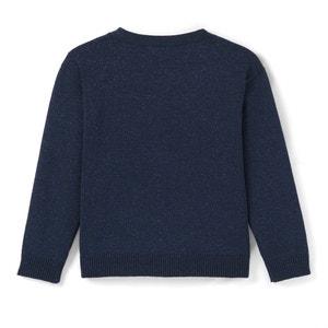 Glanzend vest met V-hals 3-12 jr La Redoute Collections