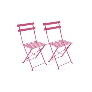 Lot de 2 chaises pliantes bistrot BOUTIQUE-JARDIN