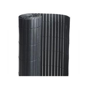 Canisse PVC double face Noir 18 m - 6 rouleaux de 3 x 1,50 m - Jardideco JARDIDECO