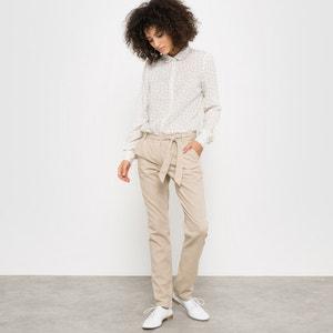 Pantalon 7/8ème lin/coton R essentiel