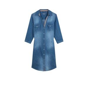 Robe chemise en jean pure coton DEVERNOIS