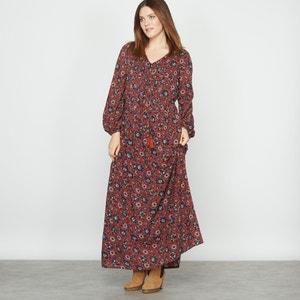 Vestido comprido estampado ou liso CASTALUNA