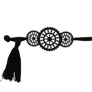 Bracelet élastique fantaisie pour femme noir Modele 5 CBK