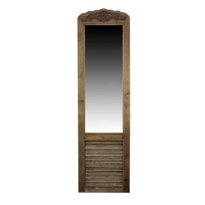 MIROIR ANCIEN RECTANGULAIRE VERTICAL SUR PIED BOIS 48.5x5x170cm DECORATION D'AUTREFOIS