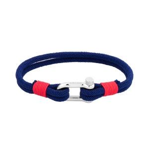 Bracelet en Corde Bleue et Acier ROCHET
