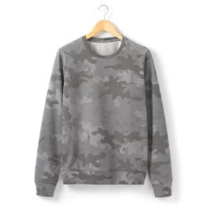 Sweat-shirt imprimé camouflage SOFT GREY