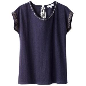 Effen T-shirt met ronde hals SUNCOO
