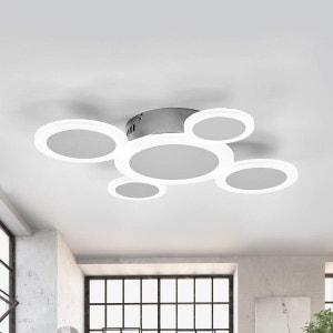 Plafonnier LED tendance Ita chromé brillant LAMPENWELT