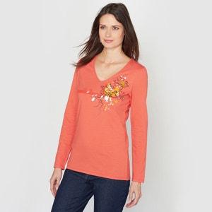 100% Brushed Cotton T-Shirt ANNE WEYBURN