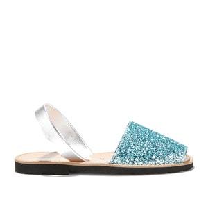 Avarca Glitter Flat Open Toe Sandals MINORQUINES