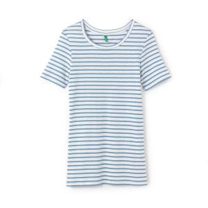 Tee-shirt col rond rayé BENETTON