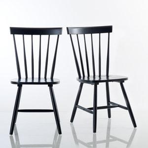 Cadeira com barras em hévea maciça, JIMI (lote de 2) La Redoute Interieurs