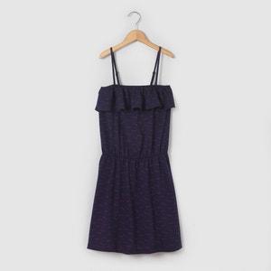 Vestido corpiño estampado 10-16 años La Redoute Collections