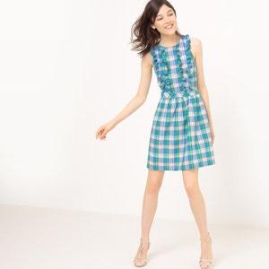 Geruite korte jurk zonder mouwen MADEMOISELLE R