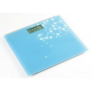 DOMO - Pèse-personne  en verre trempé - Design bleu gris ! DOMO