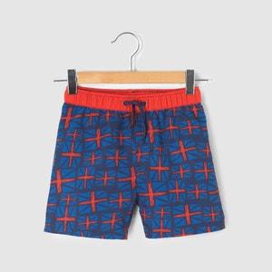 Shorts da bagno fantasia bandiera 3-12 anni La Redoute Collections